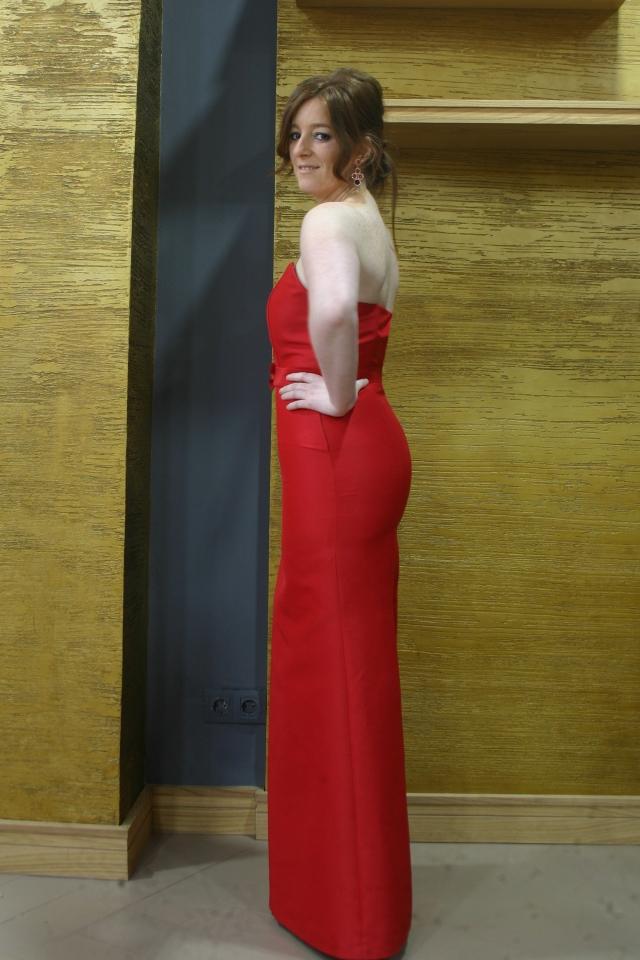 vestido de lado rojo soleia