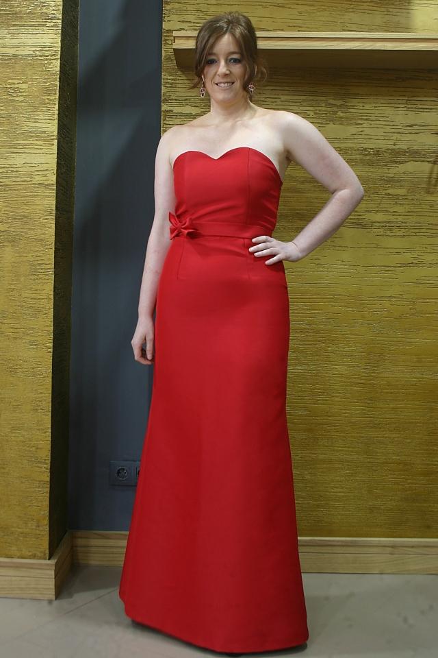 vestido rojo largo
