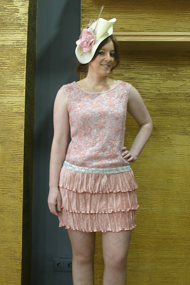 vestido rosa palo fiesta